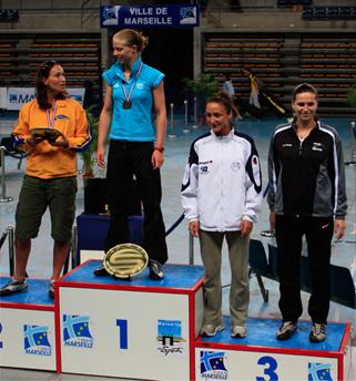 Mélanie MOUMAS - 3ème des championnats de France Individuelle Première Division