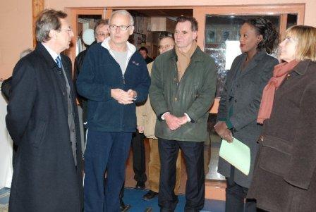 Visite de Rama Yade à la salle d'armes