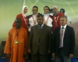 Inès championne d'Afrique 2010