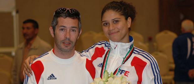 Ysaora médaillée de bronze aux mondiaux 2011 © FFE
