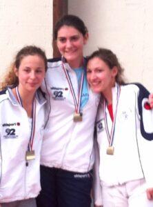 Médaille de bronze pour Clémence, Chloé et Natacha