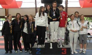 Médaille de bronze pour Natacha, Chloé et Clémence aux championnats de france junior