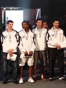 Médaille de bronze pour Maxime Prudhomme, Jean-Paul Tony Helissey, Pierrick Saint-Bonnet et Mohamed Smandi