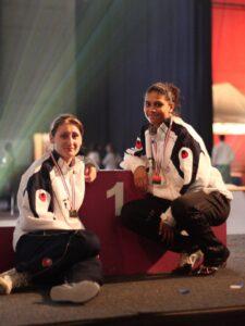 Ysaora et Blandine, championnes de France senior 2011