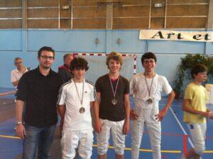 Médaille de bronze pour notre équipe minime
