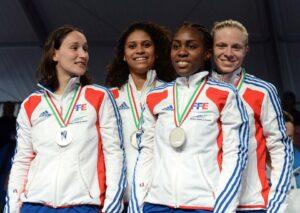 L'équipe de fleuret féminin vice-championne d'Europe 2012