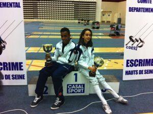 Kim et Mathilde ont remporté le titre départemental