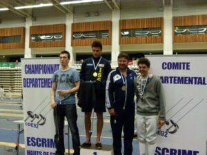 Patrice, médaille de bronze au championnat départemental