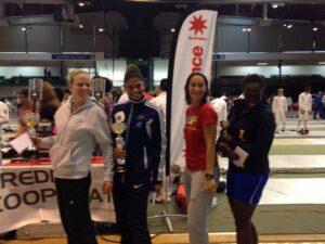 Ysaora (2ème à gauche) a remporté le TIPIF 2014