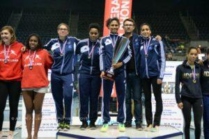 Les filles championnes de France pour la 3ème année consécutive