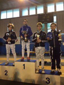 Alban, Antonin et Kirill, respectivement 2ème et 3ème du challenge des maîtres