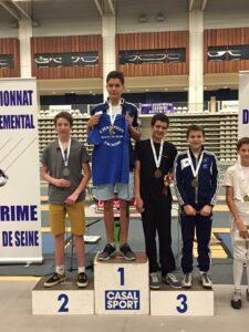 Cyril champion des Hauts-de-Seine et Aymeric médaille de bronze