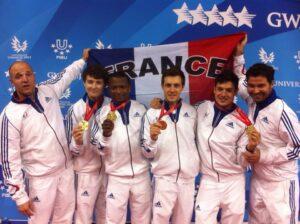 Jean Paul remporte l'or avec l'équipe de France