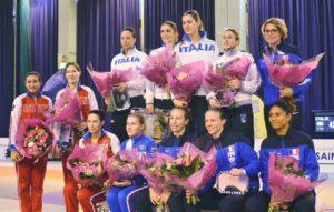 Ysaora et Gaëlle médaille de bronze avec l'équipe de France