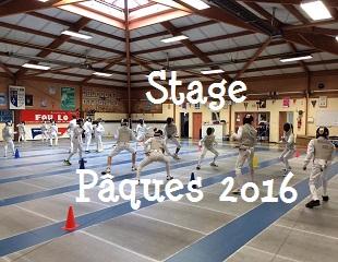 Stage de Pâques 2016