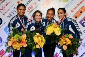 Les filles championnes de France pour la 4ème année consécutive