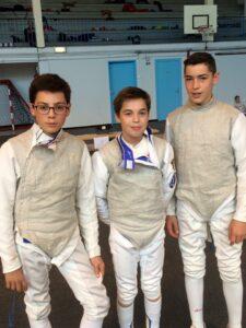 Thibault, Alphonse et Mattéo prennent la 3ème place