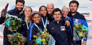 Ysaora médaillée de bronze avec l'équipe de france