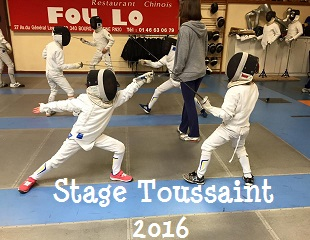 STAGE DE TOUSSAINT 2016