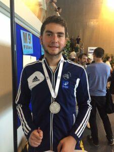 Antonin remporte la médaille d'argent
