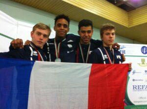 Kim médaillé d'argent avec l'équipe de France
