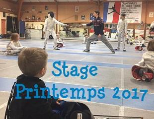 Stage Printemps 2017