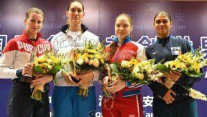 Martina et Ysaora sur le podium à Shanghai