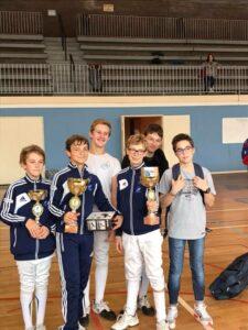 Victoire d'Antonin et 3ème place pour Kirill et Alban